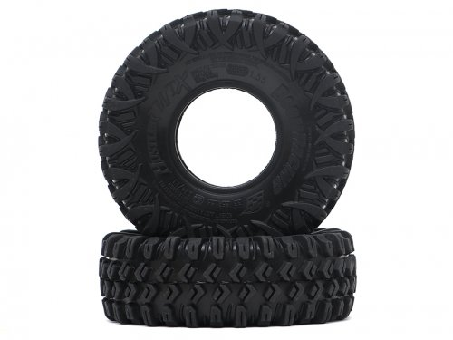 "Boom Racing HUSTLER M/T Xtreme 1.55"" BABY Rock Crawling Tires 3.74x1.3 SNAIL SLIME™ Compound W/ Open Cell Foams (Super Soft)"