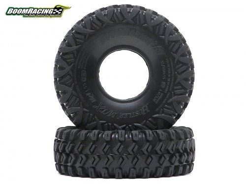 """Boom Racing HUSTLER M/T Xtreme 1.55"""" MC1 Rock Crawling Tires 4.19x1.38 SNAIL SLIME™ Compound W/ 2-Stage Foams (Super Soft)"""
