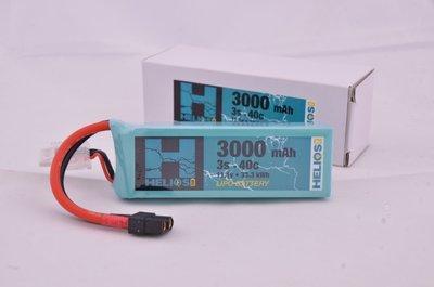 Helios R/C 3S 3000 mAh 40c Lipo (Deans)