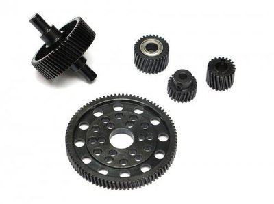 Boom Racing Heavy Steel Helical Pineapple Gear Set For Axial SCX10
