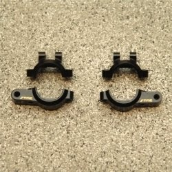 STRC CNC Machined Brass Rear Lower Shock Mount/Suspension link Mount (1 pair, 4 pcs) HPI Venture (BK)
