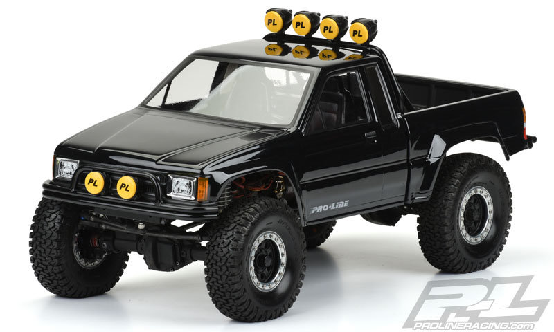 "Proline 1985 Toyota HiLux SR5 Clear Body (Cab + Bed) for 12.3"" (313mm) Wheelbase Crawlers"