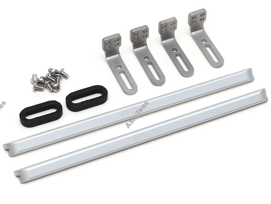 GRC Metal Side Plate Skid Panel Guard Type C Silver for Traxxas TRX-4