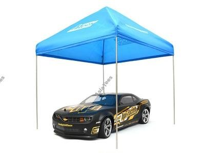 ATees ATees 1/10 Scale EZ Up Compact Pit Tent Canopy - 1 Set Blue
