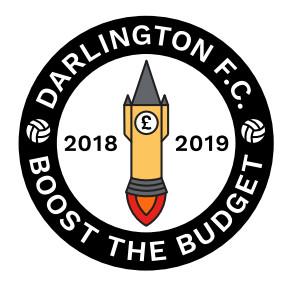 Boost The Budget 18/19 Pin Badge - BTB Rocket