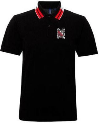 Polo Shirt - Black with Red & White Trim (Ordered on Request)