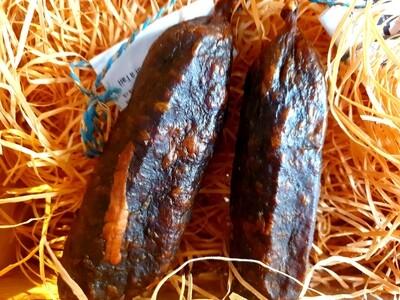 Saucisse sèche de boeuf à l'ail