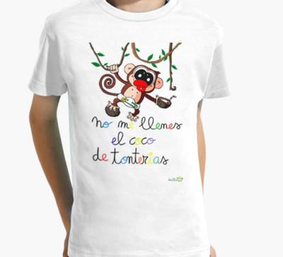 Camiseta infantil- Modelo monito