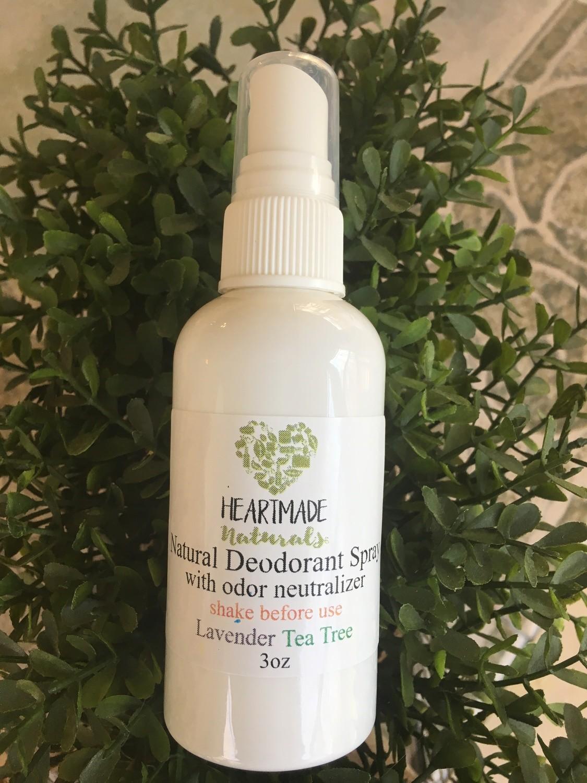 Deodorant spray with odor neutralizer
