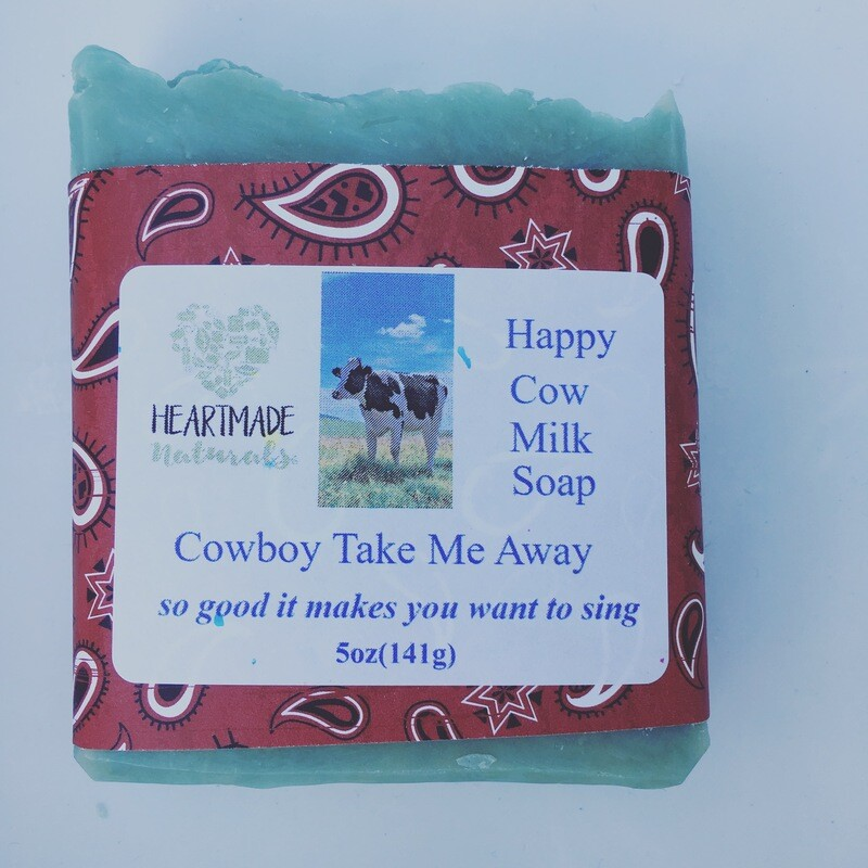 Happy Cow mill soap cowboy take me away