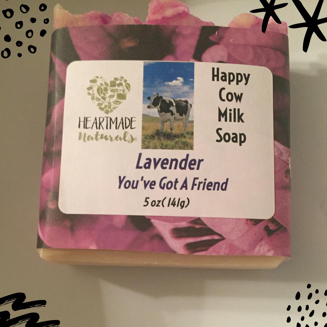 Happy Cow Milk soap lavender  - 3 bars of soap@ $7 a bar