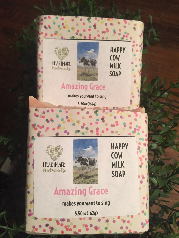 Happy Cow Soap/Amazing Grace -3 bars of soap @ $7 a bar