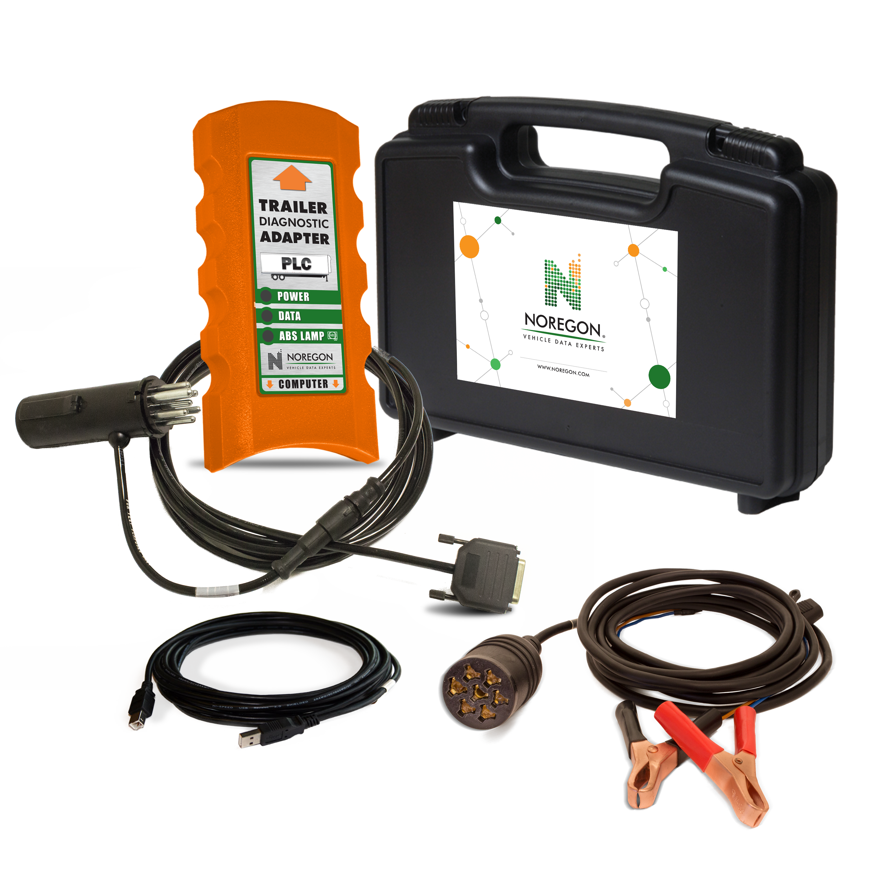 Noregon® Trailer Diagnostic Adapter Kit w/Power Supply Cable JPRO004