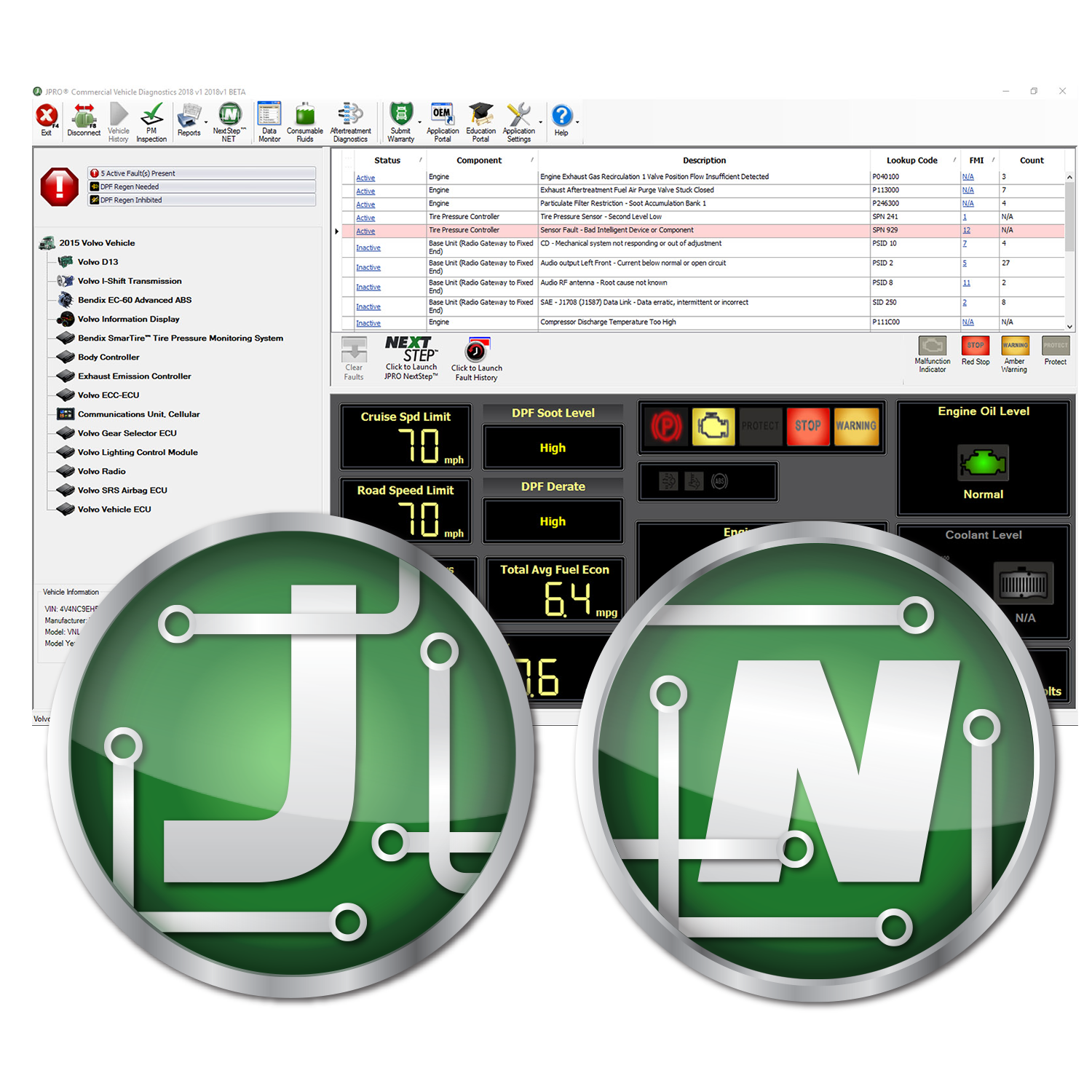 JPRO® Professional Diagnostic Software w/Next Step™ JPRO010
