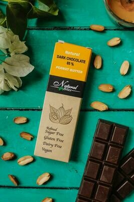 85% Dark chocolate with peanut butter شيكولاته دارك بزبده السوداني