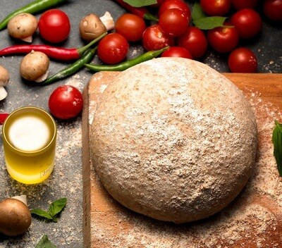 Wholewheat pizza dough عجينه البيتزه بالدقيق الاسمر