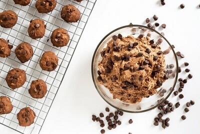 Vegan chocolate chip cookie dough عجينه كوكيز فيجن بقطع الشوكولا