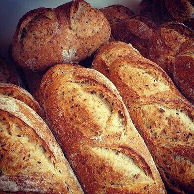 Multi-seed loaf خبز متعدد الحبوب
