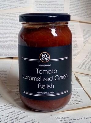 Tomato Caramelized Onion Relish مخلل الطماطم بالبصل المكرمل