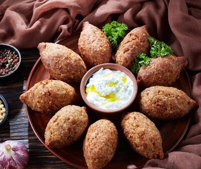 Vegan Kobeba with Chickpeas (10 pcs) كبيبه صيامي بالحمص