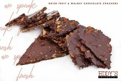 Chocolate Crackers with Dried Fruit & Walnuts (500g) مقرمشات شوكولا بالفواكه المجففه وعين جمل