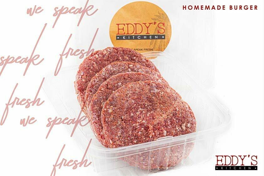 Homemade Beef Burger (4 pcs) برجر بيتي