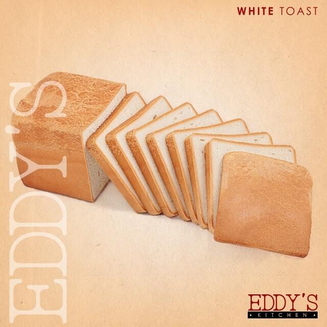 Sliced White Toast توست ابيض مقطع