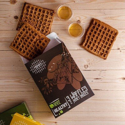Date Oat Waffles وافل شوفان بالتمر