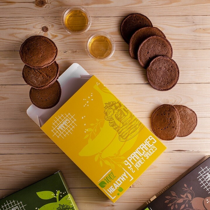 Banana Chocolate Oat Pancakes بان كيك شوفان بالموز والشوكولاته
