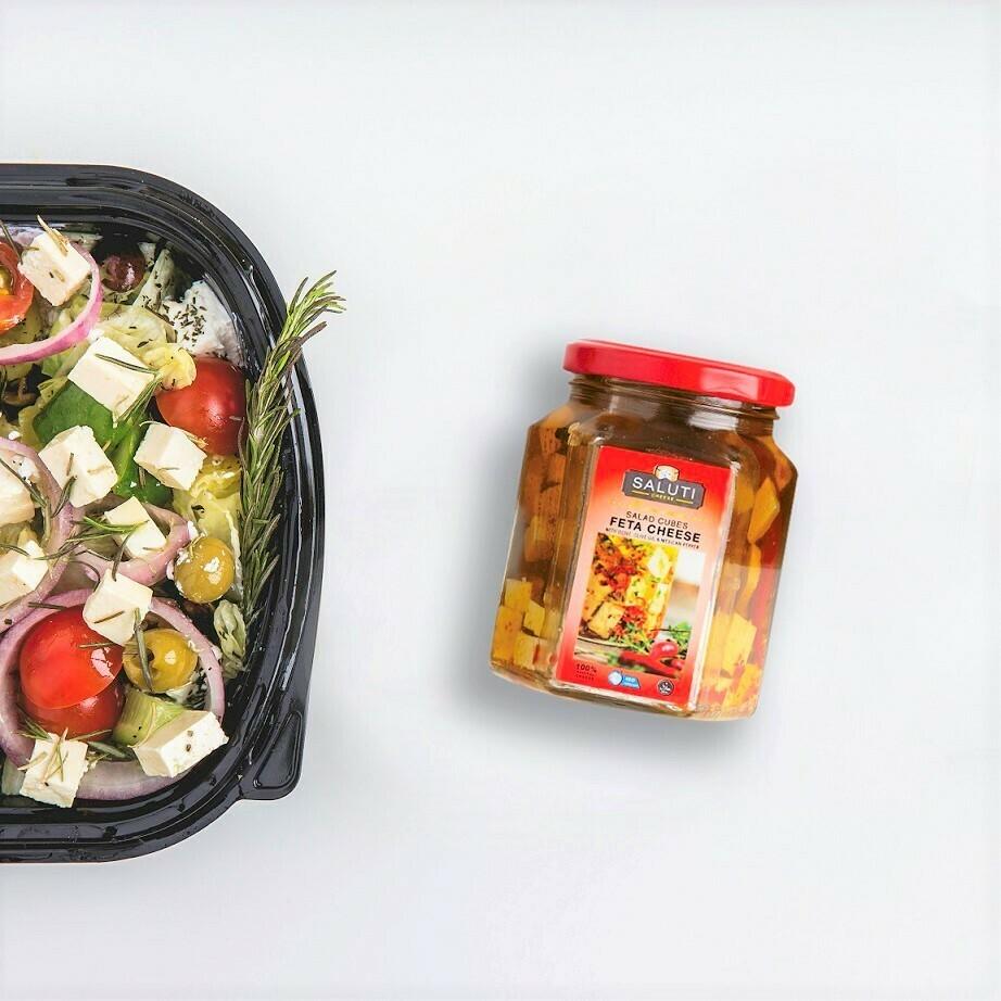 Spicy Feta Salad Cubes (100g) مكعبات جبن فيتا حار