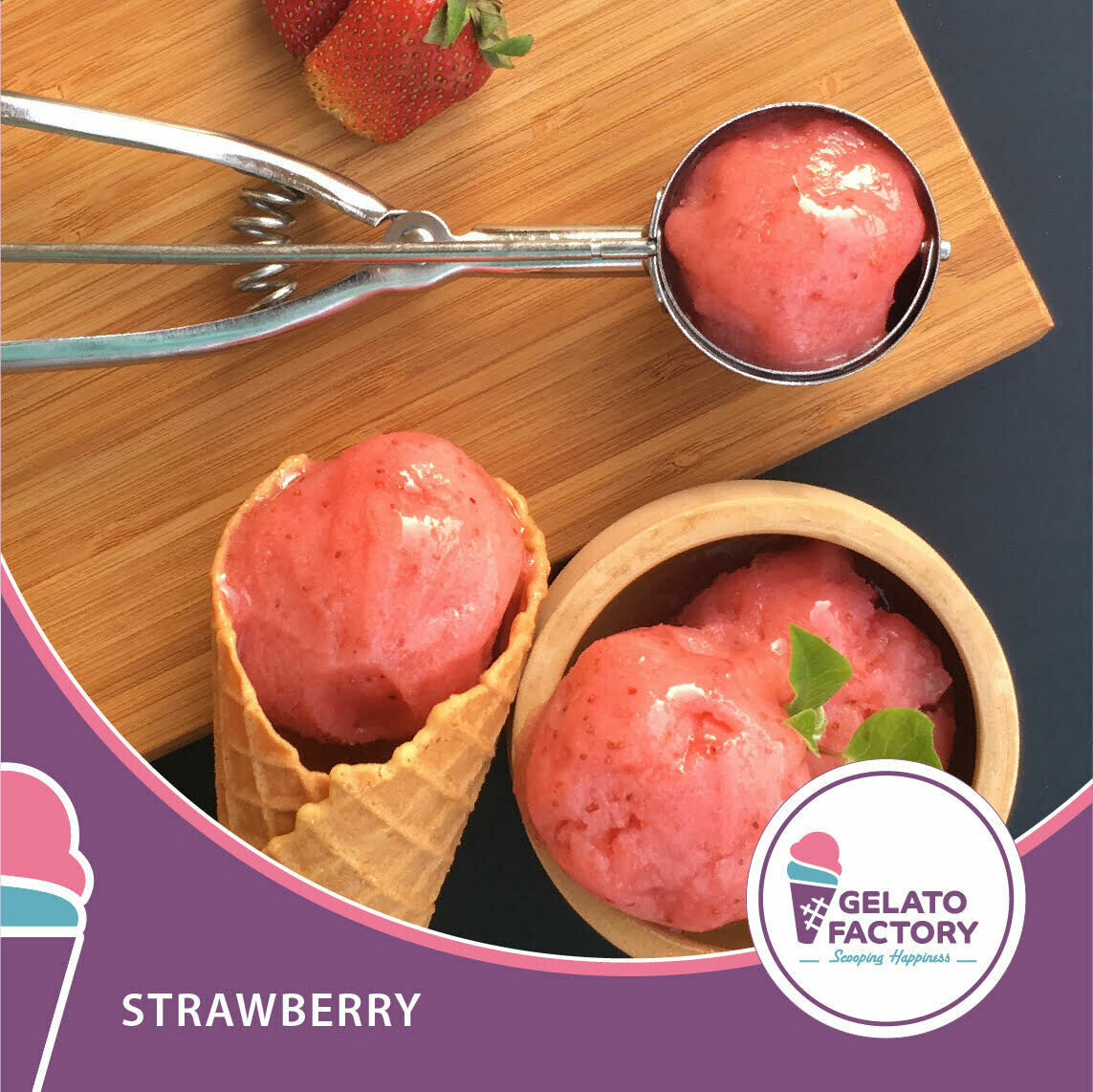 Strawberry Gelato (700g) جيلاتو فراولة