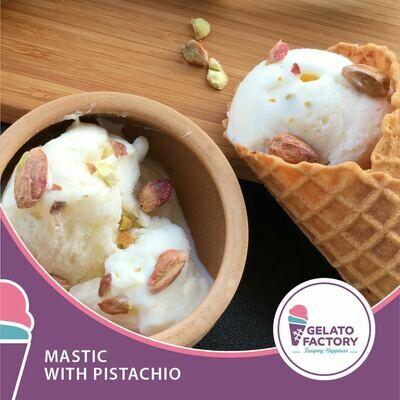 Mastic Gelato with Pistachio (700g) جيلاتو مستكة بالفستق