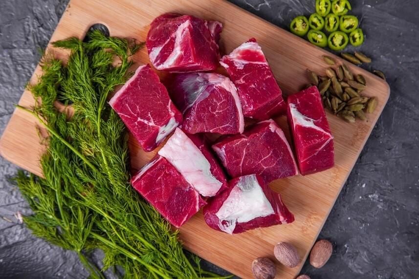 Beef Cubes Medium Fat (500g) لحم خضار بلدي متوسط الدسم