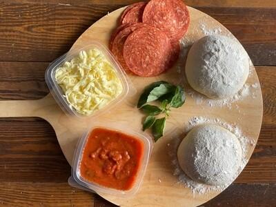 Salami Pizza Kit مكونات البيتزا بالسلامي