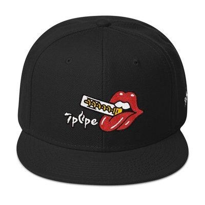 Cartoon Twisty™ Lip Snapback Hat