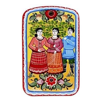 Доска разделочная с городецкой росписью С11-1814