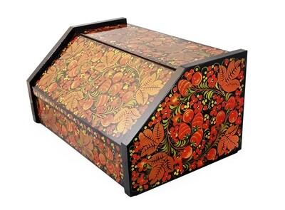 Хлебница с хохломской росписью