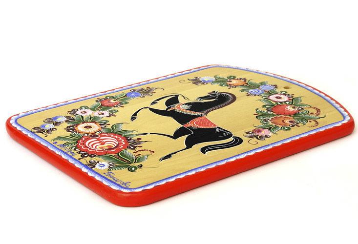 Доска разделочная с городецкой росписью с11-1512