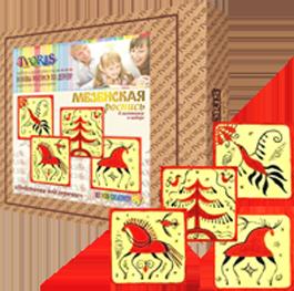 Игрушка-набор основы росписи по дереву «Мезенская роспись»