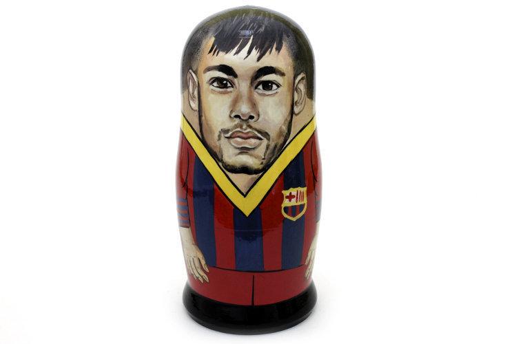 Матрёшка авторская коллекционная «Neymar» 1 кукла