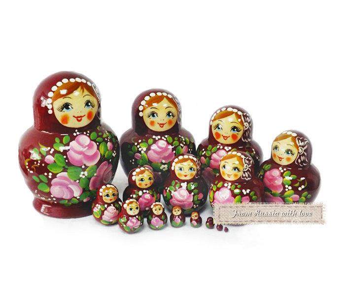 Матрёшка Семеновская «Катюша» 15 кукол