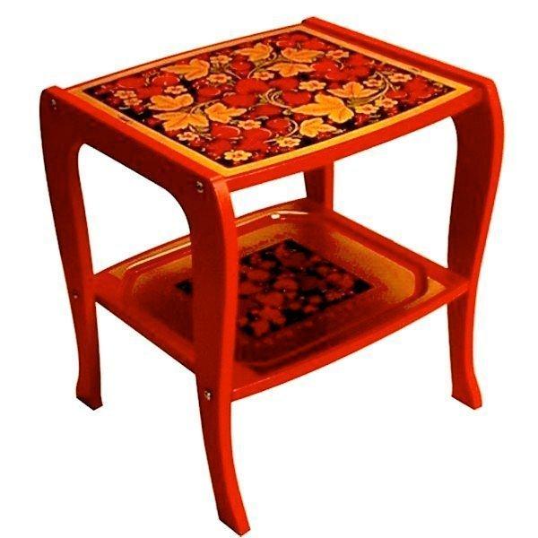 Стол «Прикроватный» с хохломской росписью.