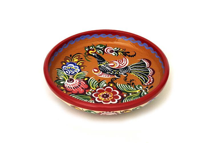 Тарелка малая с городецкой росписью 113x30 C11-1595