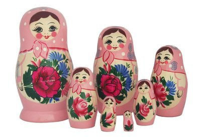Матрёшка Семеновская  7 кукол. Роспись нетрадиционная