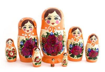 Матрёшка Семеновская 8 кукол. Роспись нетрадиционная