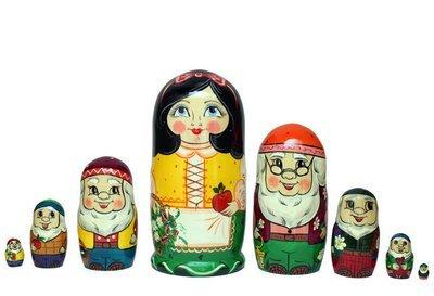 Матрёшка Семеновская авторская «Белоснежка» 8 кукол