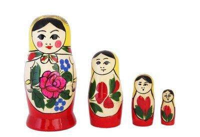Матрёшка Семеновская «Россияночка» 4 куклы