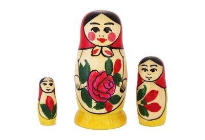 Матрёшка Семеновская «Россияночка» 3 куклы