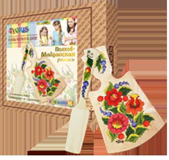 Игрушка-набор основы росписи по дереву «Полхов-Майданская роспись»