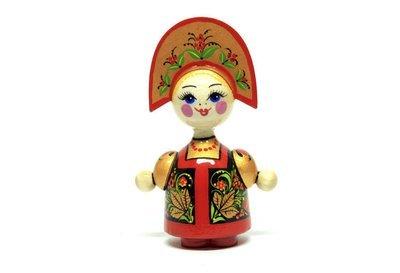 Кукла сувенирная «Аленушка» с хохломской росписью